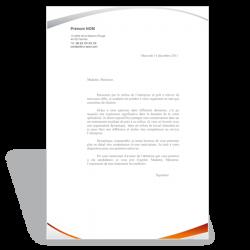 Lettre de motivation Assistante de Gestion (orange)
