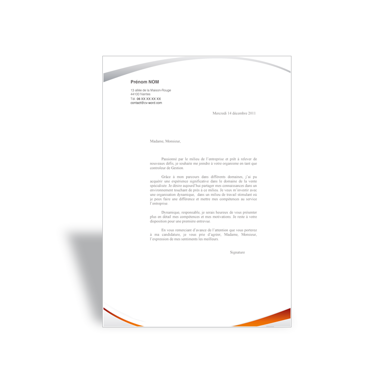 lettre de motivation assistante de gestion  orange