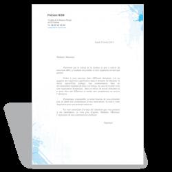 Template Word lettre de motivation à télécharger