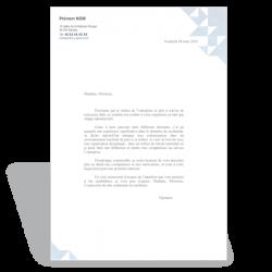 Modèle de lettre de motivation administratif