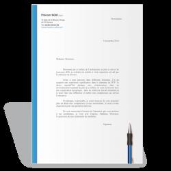 Exemple modèle lettre de motivation Conducteur de Travaux (bleu)