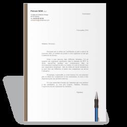 Exemple modèle lettre de motivation Conducteur de Travaux (marron)