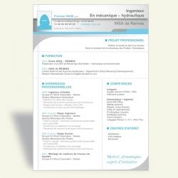 CV Ingénieur II (bleu ciel)