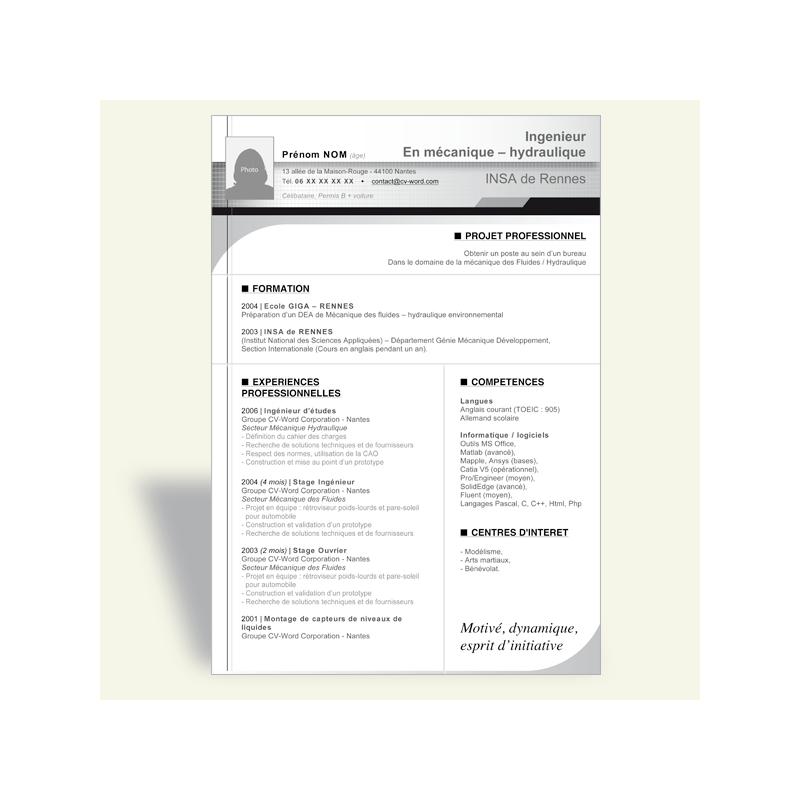 resume format  cv gratuit a telecharger sur mac