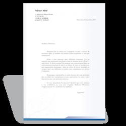Modèle lettre de motivation design