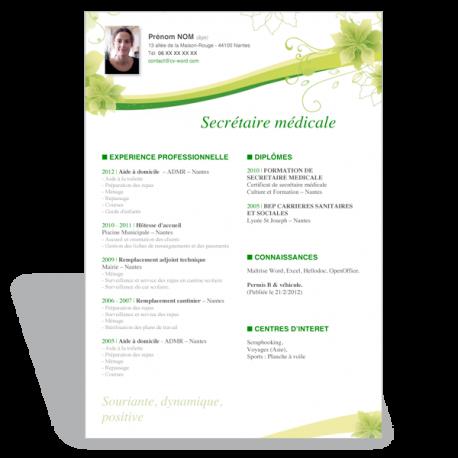 Modèle CV Secrétaire médicale