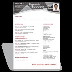 Modèle CV Word Soudeur Chaudronnier