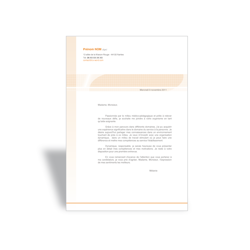 lettre de motivation cv garden