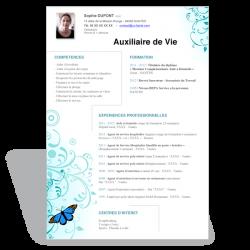 Modèle CV Word Auxiliaire de Vie