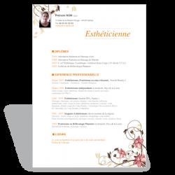 Modèle CV Word Esthéticienne V