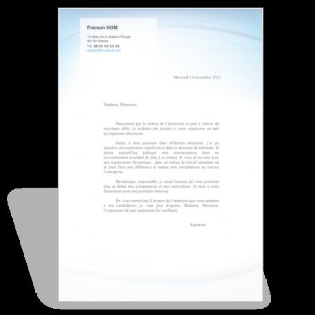 exemple lettre de motivation electricien Exemple de CV type à remplir au Format Word exemple lettre de motivation electricien
