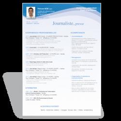 Modèle CV Word Journaliste II