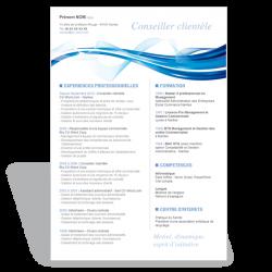Modèle CV Word Conseiller Clientèle