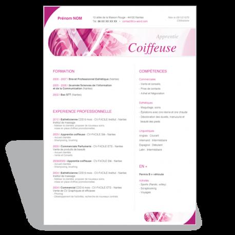 Télécharger le modèle CV Word Apprentie Coiffeuse