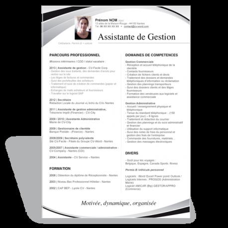 modele cv assistante de gestion Télécharger un modèle de CV Word original. Curriculum Vitae modele cv assistante de gestion