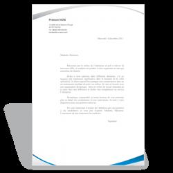 Lettre de motivation Assistante de Gestion (bleu)