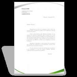 Lettre de motivation Assistante de Gestion (vert)