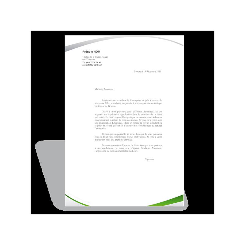 lettre de motivation assistante de gestion  vert