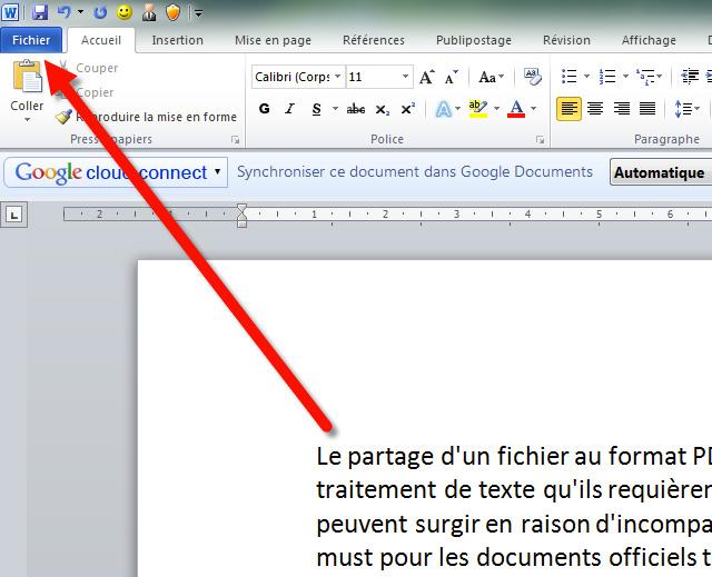 exporter un cv ou une lettre word au format pdf